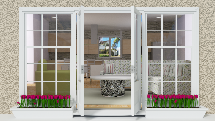 French doors render 1000 bright