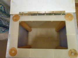 Interior of hamper stool