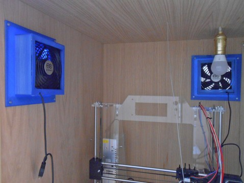 interior view of 3d printer enclosure