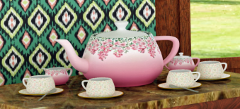 Tea set peonies 2