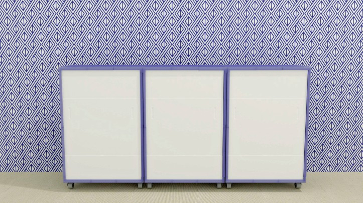 Render of 3D printed cabinet by Sandra James