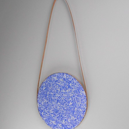 Chiyogami paper and wood wall hanging by Sandra James